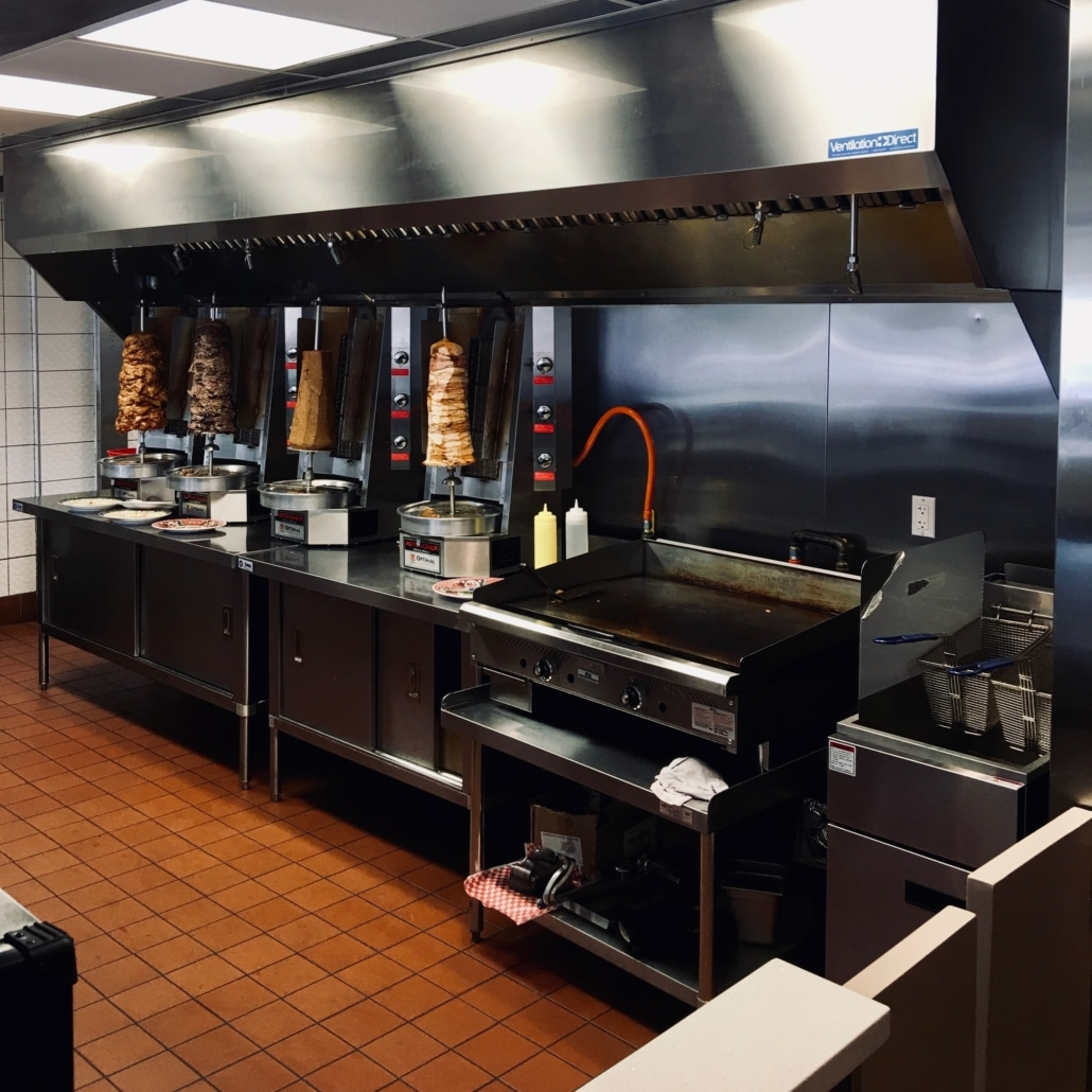 Commercial Kitchen Gas Lines and burners