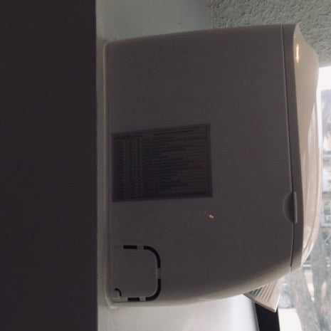 side view of air conditioner